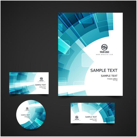 free vector business card For Sample Tex, Cd Cover \ Greeting Card - business card sample