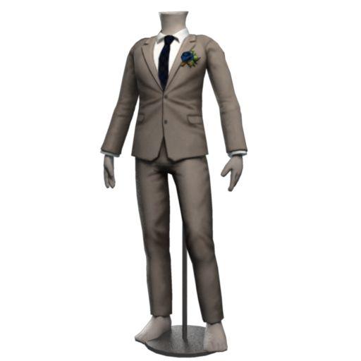 Handsome Grey Formal Suit - Tartan