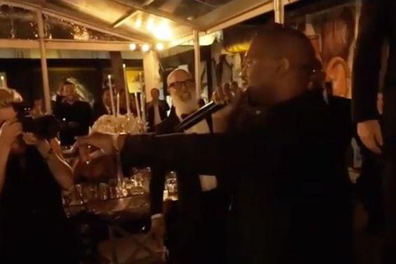 Kanye West interrupts a wedding speech