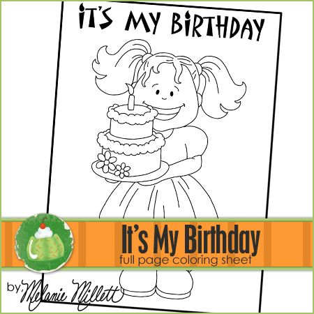 it's my birthday printable coloring pages and my birthday on pinterest