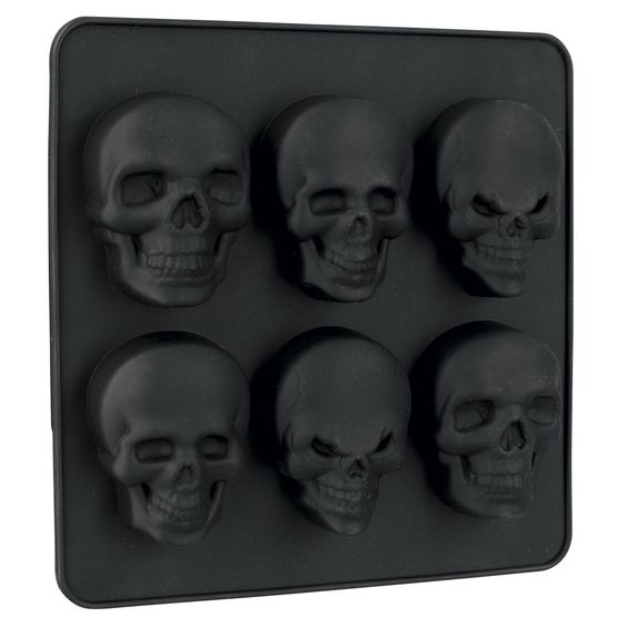 skull silicone ice cube moulds