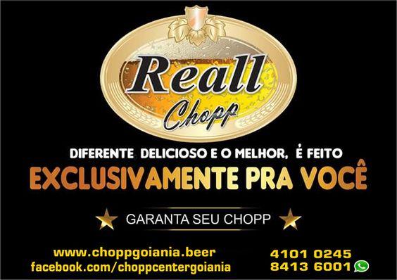 Lugar de beber chopp é em casa. Chopp Reall. Disk 4101 0245 - Wathsapp 62 8413 6001.  http://goo.gl/826qc0