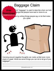 Social Emotional Skills Activity: Emotional Baggage - Free Printable