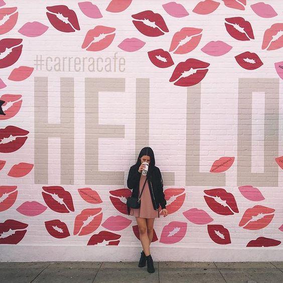 Hello, it's me. #hello #losangeles #carreracafe #melrose #vsco #vscocam Kiss my A** wall on Melrose and Harper LA #wallshoppe #nturnerdesign #markyourwalls #streetartla #fashionblogger @Carrera Cafe