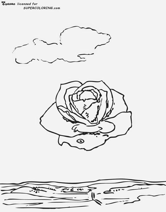 Salvador Dali Persistence Of Memory Coloring Page