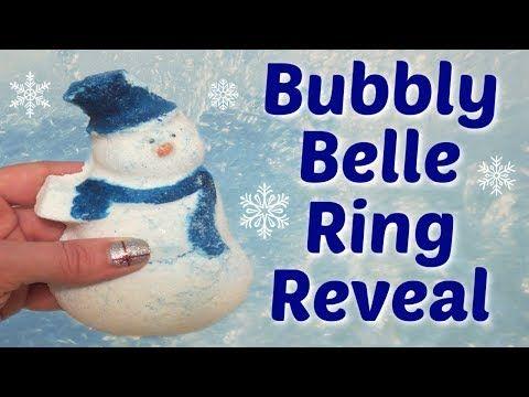 Bubbly Belle Ring Reveal Snowman Bath Bomb Bath Bombs Bubbles Belle
