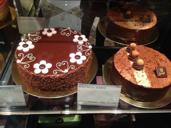 Sprüngli Chocolate Tortes Repinned by www.gorara.com