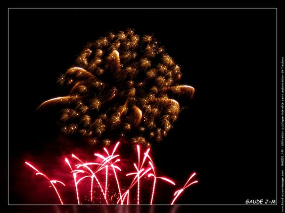 Feu d'artifice sur Gap.