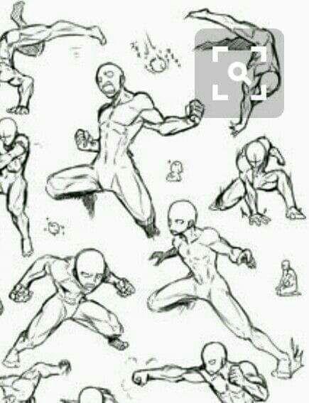 Bocetos Y Guias Para Dibujantes Poses De Pelea Dibujo De Posturas Bocetos De Animacion Tutoriales De Anime