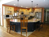 new and rustic kitchen