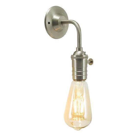 Vintage Edison Bulb Holder Barn Light - Wall Sconce - Brass, Pewter & | Industville