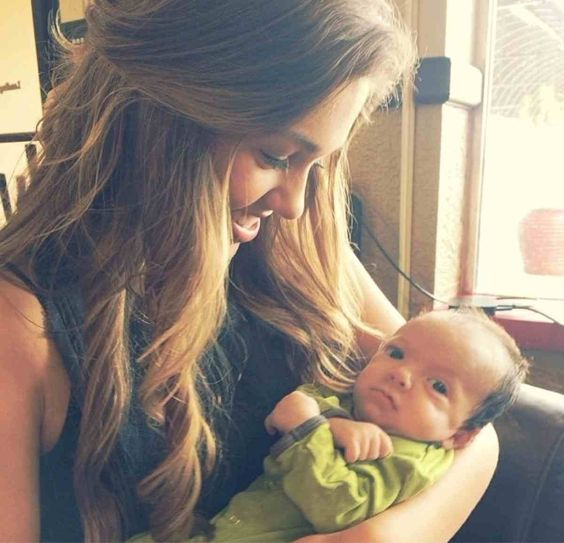 Sadie Robertson and her niece I think