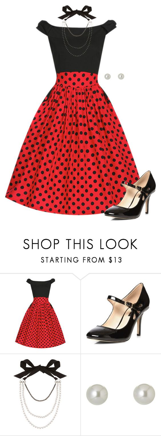 """""""Polka dot wish and secret kisses"""" by sillybands95 ❤ liked on Polyvore featuring Dorothy Perkins, Lanvin and Givenchy"""
