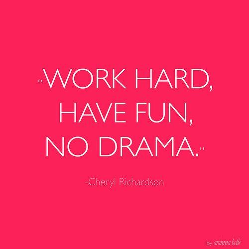 No drama.