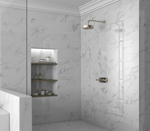 Studio M 4 X 12 Statuario Porcelain Floor Wall Tile Matte Finish On Sale 3 98 Sq Ft Bathrooms Remodel Bathroom Flooring Tile Bathroom