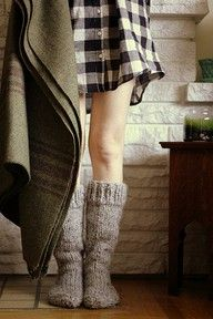 Knit socks.