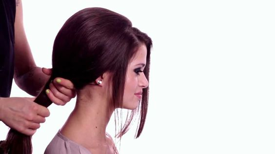 Wie man Haare richtig toupiert Hier ein Beispiel für einen Sixties-Zopf