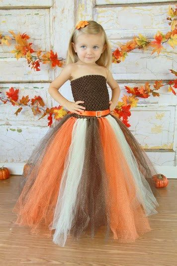 Newborn - Size 9 Sparkly Glitter Fall/Autumn Tutu Dress