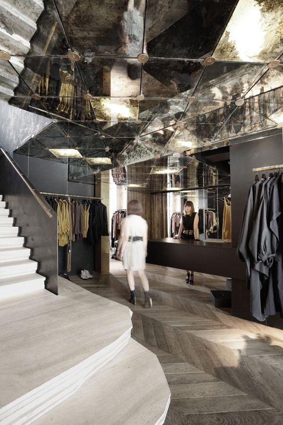 Cut Architectures - Damir Doma Flaship Store, 54, rue du Faubourg St-Honoré, Paris (2012)