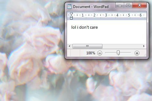 Eu não me importo.