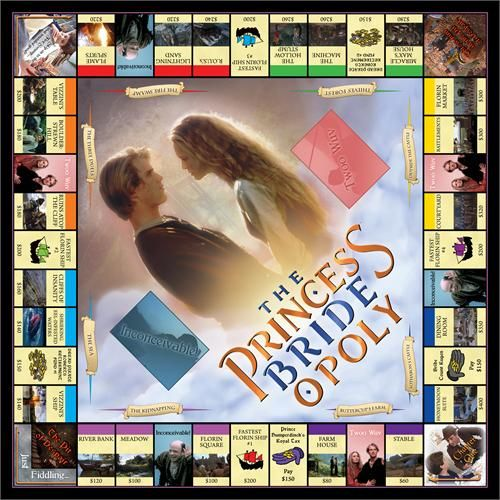 PrincessBride·Opoly is a brand new, classically–designed board game where you and your friends play as one of the beloved cast of 'The Princess Bride'!