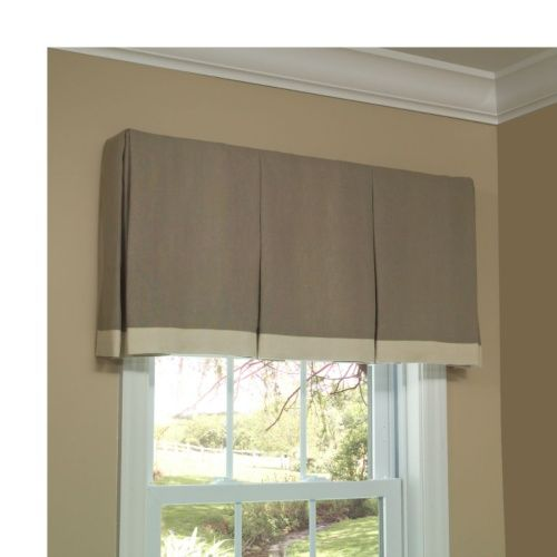Inverted box pleated valance tailored style that can be for Window valance box