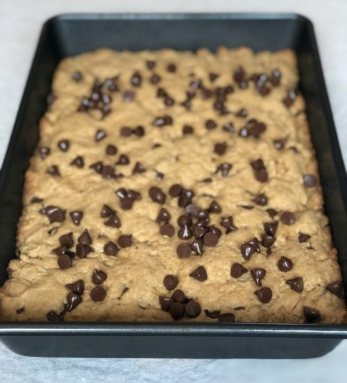 Peanut Butter Chocolate Chip Lactation Cookie Bars Recipe Lactation Cookies Peanut Butter Chocolate Chip Healthy Lactation Cookies