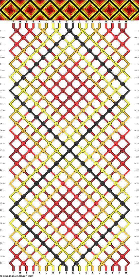 Muster # 23259, Streicher: 18 Zeilen: 36 Farben: 5