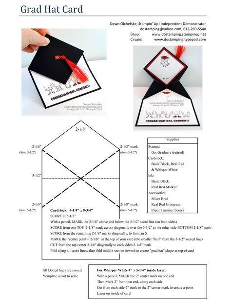 Grads Dads Grad Hat Fun Fold Card Graduation Cards Handmade Graduation Cards Diy Graduation Diy