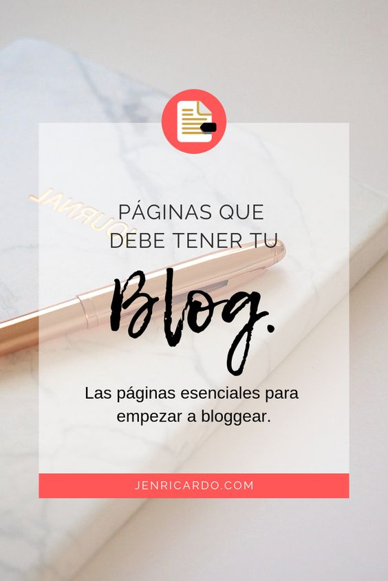 Páginas que debe tener tu blog