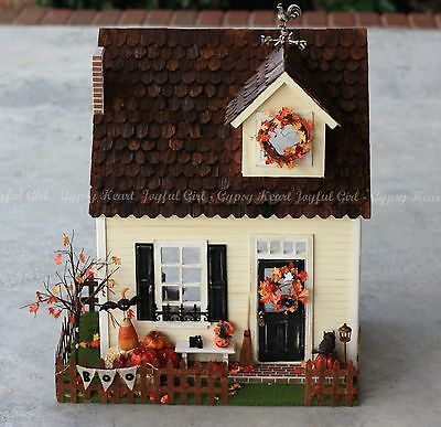 Artisan 1:12 Miniature Halloween Fall Dollhouse Handcrafted and Decorated
