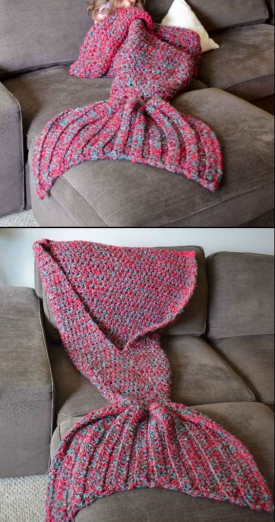 Mermaid Crochet Tail Blanket Patterns Free Video Tutorial ...