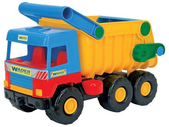 Wader-Wozniak 32051 - Kipper Middle Dumper Truck, 3-Achse, 38 cm, farblich sortiert, Farbe nicht wählbar: Amazon.de: Spielzeug