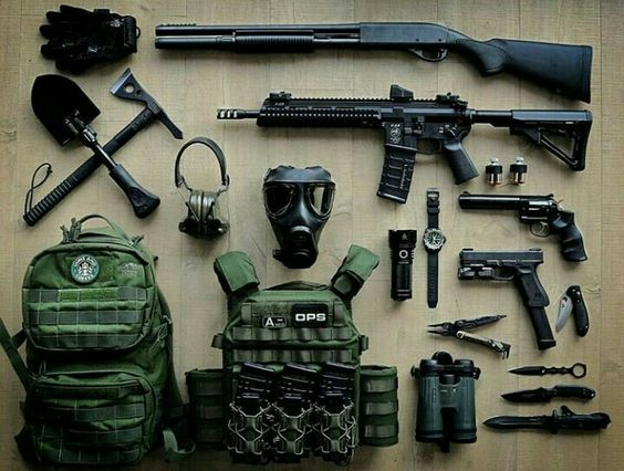 (t) Guns and Gears : Loadout (OD green)