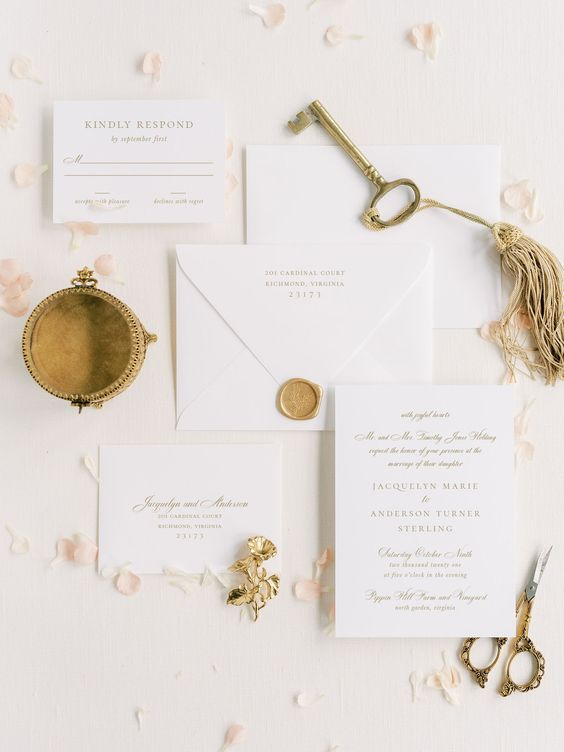 Vibrant White and Gold Wedding Decor Ideas, a395a5c038fd13f544566df36d3161ea