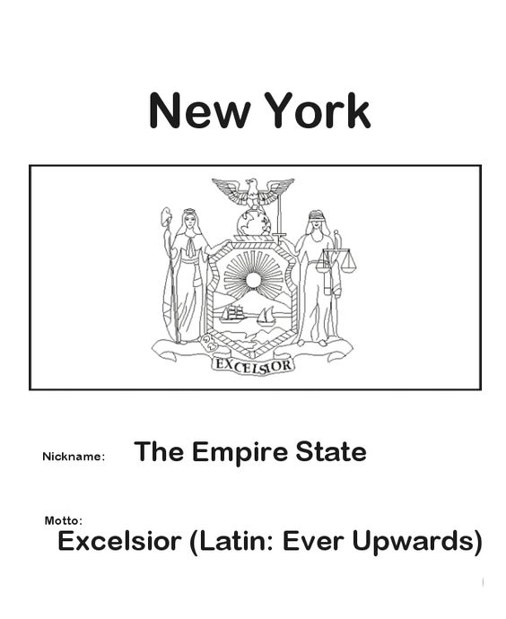 Coloring york and coloring pages on pinterest for New york flag coloring page