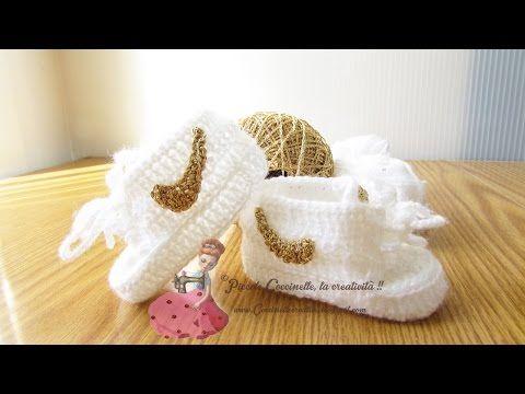 uncinetto - scarpine da neonato stile nike