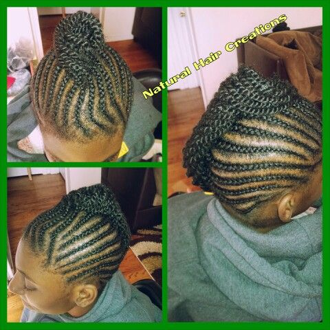 Cornrows french roll kinky twists natural hair protective style