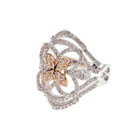 Diamant Blumen Ring von Rockberries.com