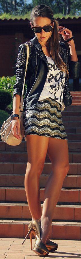 Mini skirts, Skirts and Stiletto pumps on Pinterest