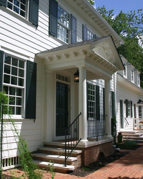 Stunning Front Door Ideas Add A Portico 20 Gorgeous Entryways The Well Appointed House Blog Living The Portico Design Front Porch Design House With Porch