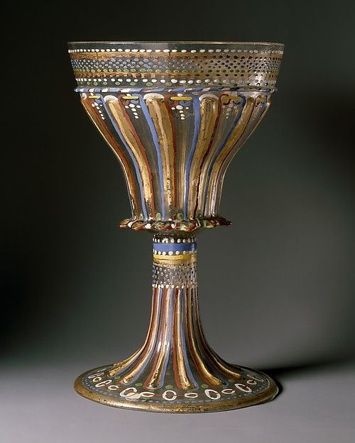 Standing cup  Date: ca. 1530 Culture: Italian, Venice (Murano) Medium: Glass, enameled and gilt: