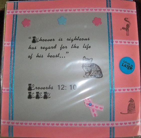 Pet scrapbook Scripture page 12x12