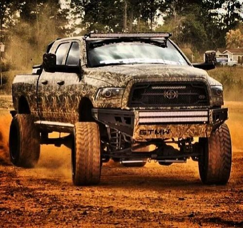 Diesel Cummins. This truck would be perfect if it was black or gunmetal instead of camo