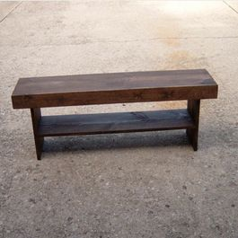 Salvaged Wood Bench by Wayne