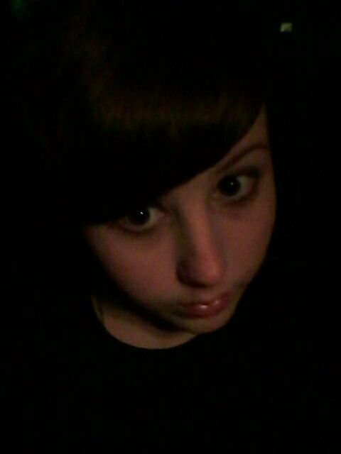 Goth/emo girl problem: selfies in the dark make you look like a floating head and neck. ((Old selfie because reasons. No repins))
