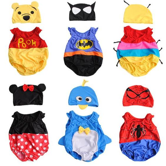 Let your baby swim in style! These adorable baby bloomers are the perfect cover up for swimming in this summer heat. In 7 different styles, find the theme perfectly fit for your little one.