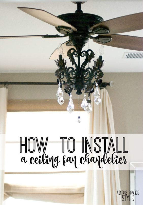 VINTAGE ROMANCE STYLE: How to Install a Light Kit for a Ceiling Fan // New Year New Room Part 2