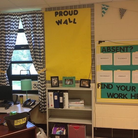 Teal Classroom Decor ~ Teal yellow homework and classroom on pinterest