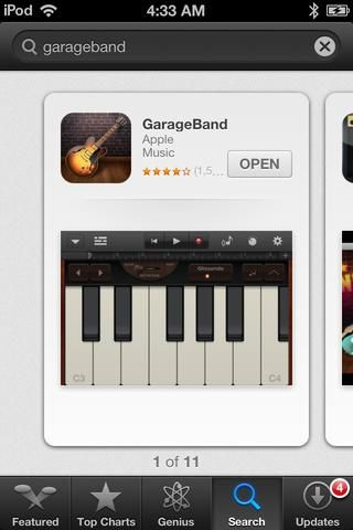 Download GARAGEBAND by APPLE from the App Store (Price: $5)